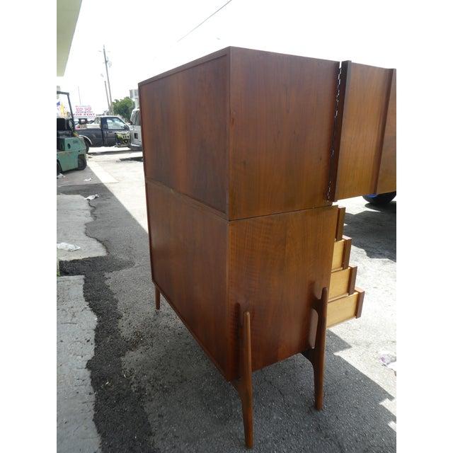 1950s Mid Century Modern Danish Modern Clausen Brande Mobilfabrik Chest of Drawers For Sale - Image 5 of 9