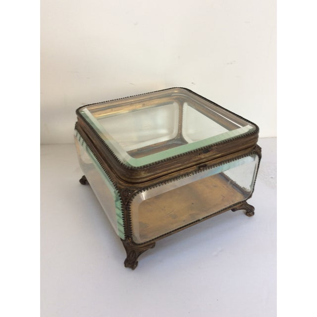 Metal Mounted Glass Box For Sale - Image 5 of 6