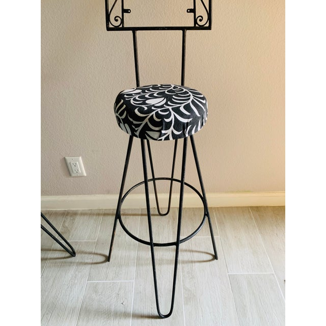 Vintage Mid Century Frederick Weinberg Style Iron Barstools - a Pair For Sale In Palm Springs - Image 6 of 11