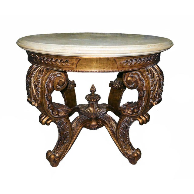 Ornately Carved Gilt Wood Rococo Center Table Base For Sale - Image 11 of 11