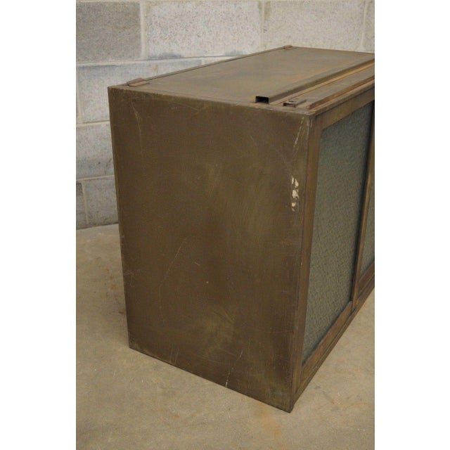 Green Remington Rand Industrial Green Steel Metal Stacking Barrister Storage Cabinet A For Sale - Image 8 of 12