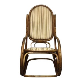 1970s Vintage Bentwood Bamboo Rocker For Sale