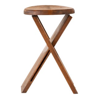 Primitive Folding Stools After Roger Tallon - 2 Available For Sale