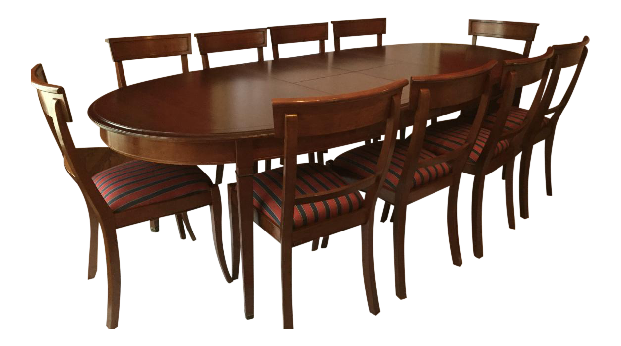 Grange Oval Cherry Dining Set