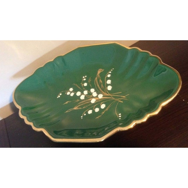 Art Deco 1930s Antique Egisto Fantechi Floral Majolica Porcelain Dish For Sale - Image 3 of 12