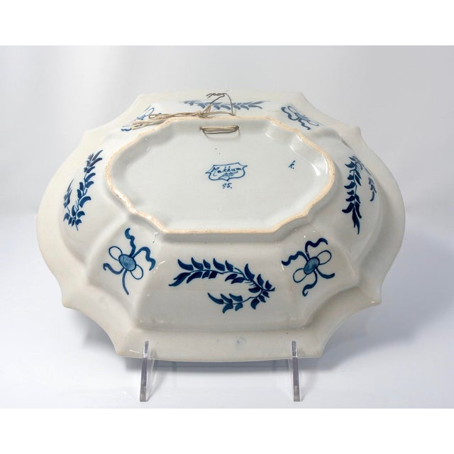 White Blue and White Delft Platter With Chinoiserie Design For Sale - Image 8 of 10
