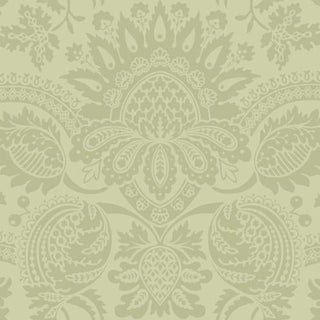 Cole & Son Dukes Damask Wallpaper Roll - Olive For Sale