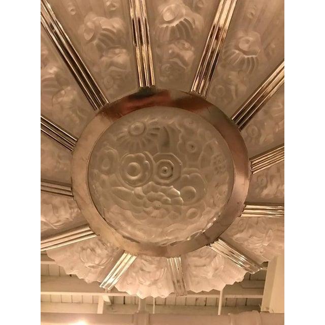 Genet Et Michon French Art Deco Chandelier - Image 6 of 9