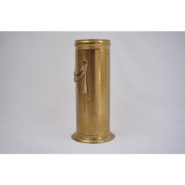 Vintage Brass Umbrella Stand by Peerage For Sale - Image 4 of 12