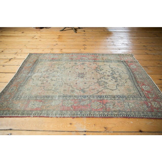 "Antique Kerman Square Rug - 2'11"" X 4' For Sale In New York - Image 6 of 13"