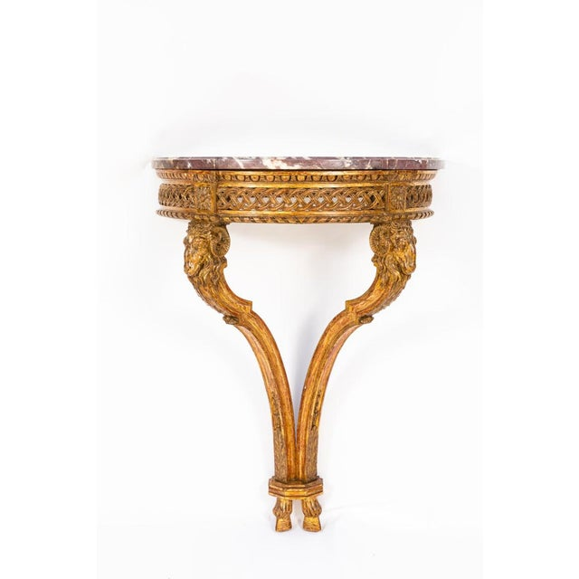 19th Century French Giltwood Wall Mounted Console For Sale In Los Angeles - Image 6 of 11