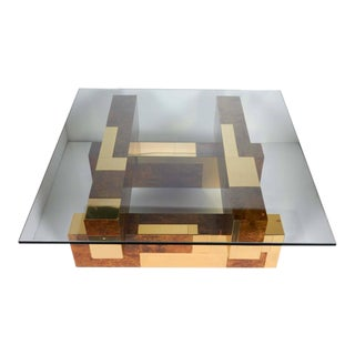 Mid-Century Cityscape Coffee Table by Paul Evans