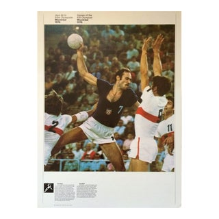 1976 Montreal Olympic Poster, Double-Sided - Handball/Volleyball