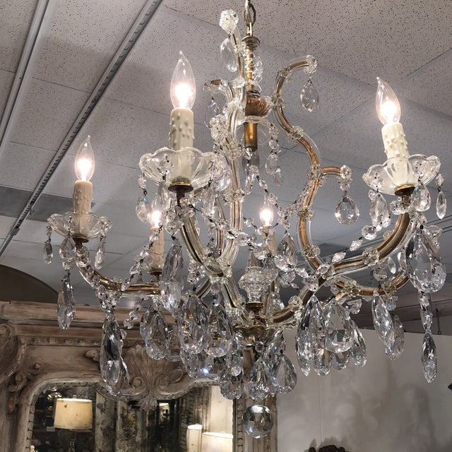 Antique italian chandelier chairish wonderful italian chandelier early 1900 complete new wiring and cleaning ready to hang aloadofball Gallery
