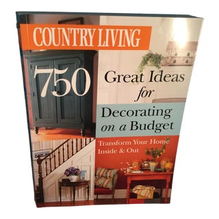 Country Living 750 Great Ideas for Decorating on a Budget Book For Sale