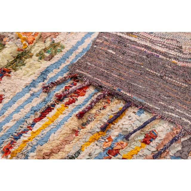 2010s Contemporary Moroccan Multi-Patterned Geometric Rug - 3′4″ × 5′8″ For Sale - Image 5 of 6
