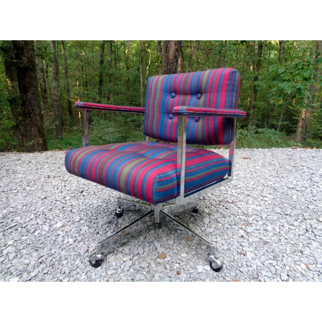 Industrial Mid Century Frank Doerner Faultless Office Chair for Cole Steel For Sale - Image 3 of 13