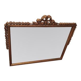 Vintage Gilt Rectangular Mirror For Sale