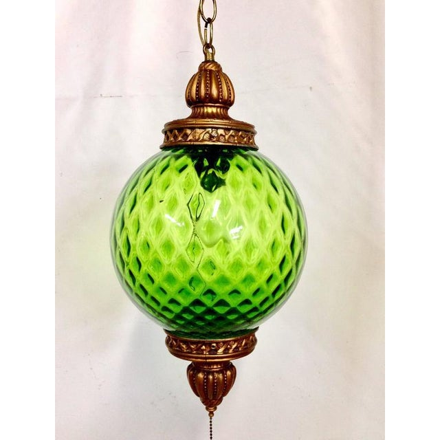 Mid-Century Italian Blown Glass Globe Pendant Hanging ...