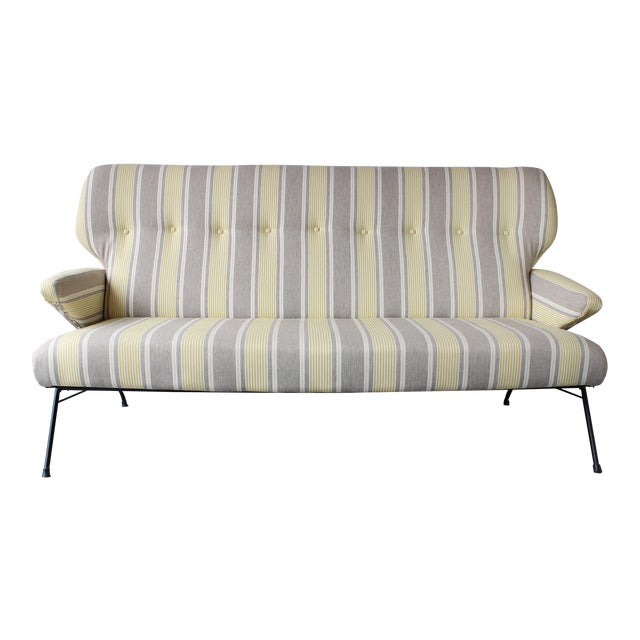 1950s Italian Wing Back Sofa For Sale