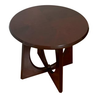 Mid Century Modern Red Mahogany Side Table For Sale