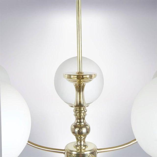 Brass Italian Brass Chandelier, Circa 1950s For Sale - Image 7 of 9
