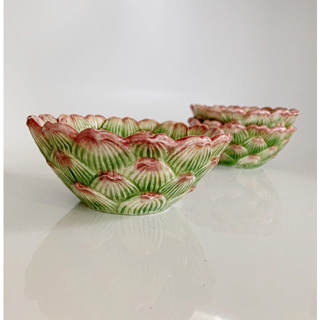 Green Fitz and Floyd Artichoke Ceramic Serving Bowls and Plates Set - 6 Pieces For Sale - Image 8 of 13