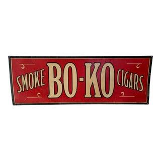Antique Bo-Ko Cigar Sign For Sale