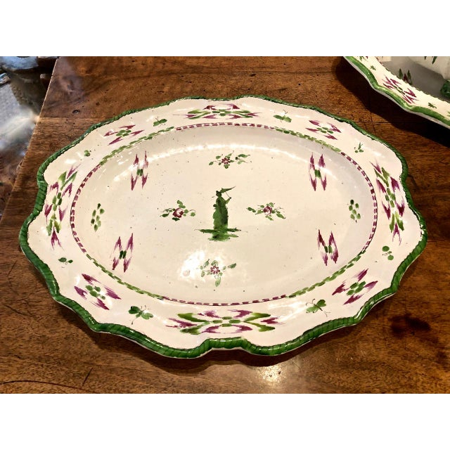 Pair French Faience Soup Tureens With Under Plates, Early 19th Century For Sale - Image 11 of 12
