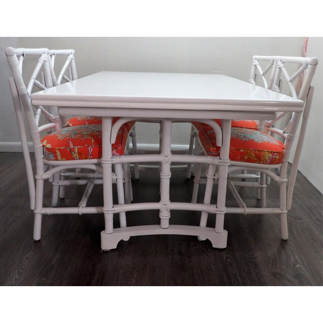 Chinoiserie, Wrapped Bamboo Dining Set - 5 Pieces For Sale - Image 13 of 13