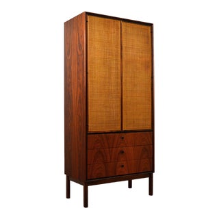 Mid Century Jack Cartwright for Founder's Furniture Walnut Armoire For Sale