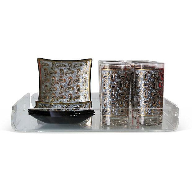 1970s Pucci-Style Bar Set with Tray - Set of 11 - Image 3 of 6
