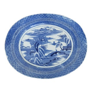 Chinoiserie Style Canton Ware Pattern Platter For Sale