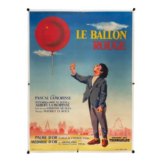 "Vintage 1956 French ""Le Ballon Rouge"" Film Poster For Sale"