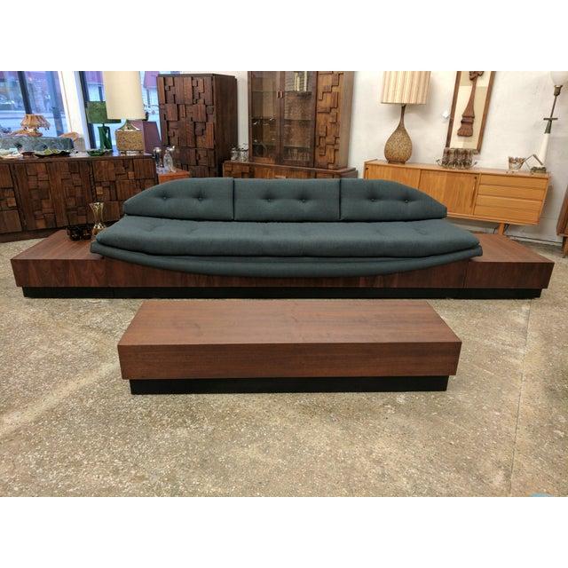 Mid Century Modern Platform Base Gondola Sofa - Image 7 of 7