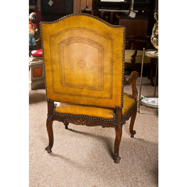 Brown English Georgian Walnut Armchair For Sale - Image 8 of 9