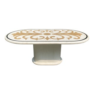 Vintage Post Modern Italian Marble Dining Table For Sale