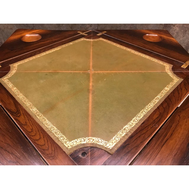 Brown French Rosewood Inlay Handkerchief Game Table For Sale - Image 8 of 8