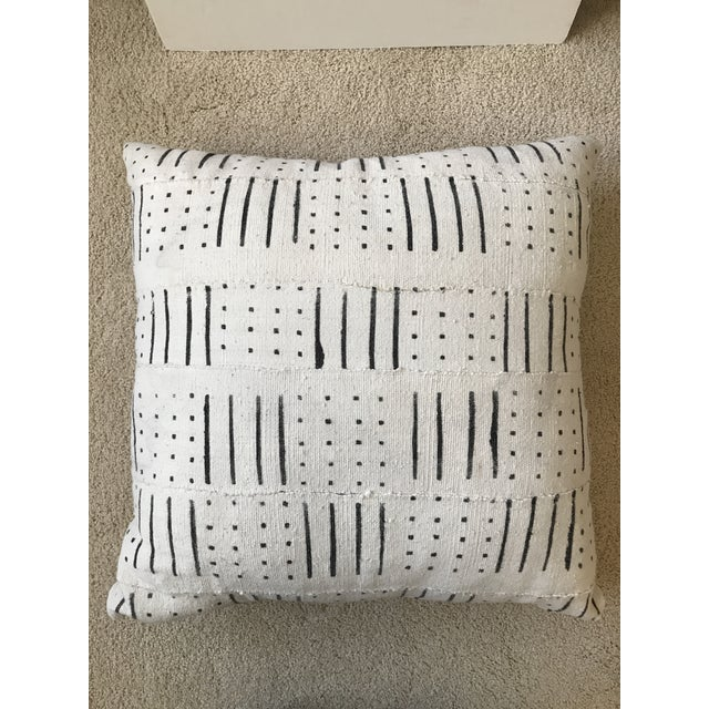 Black and White Mud Cloth Pillow - Image 5 of 6