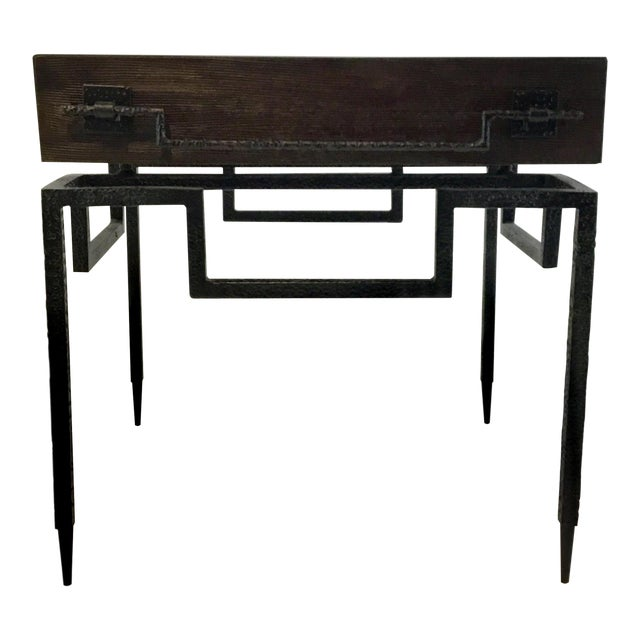 Global Views Industrial Modern Scratch End Table For Sale