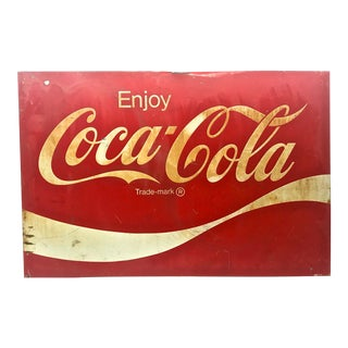 1950s Original Coca Cola Store Sign For Sale