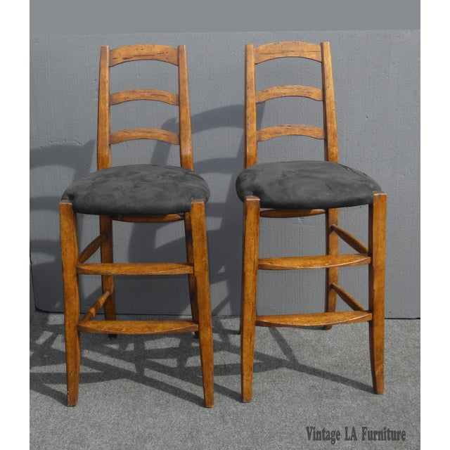 Minton Spidell French Country Black Bar Stools - Image 4 of 11