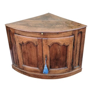 19th Century French Provincial Corner Cabinet