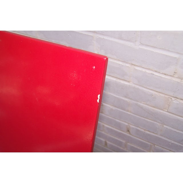Gerrit Rietveld Style Red & Blue Chair For Sale - Image 10 of 11