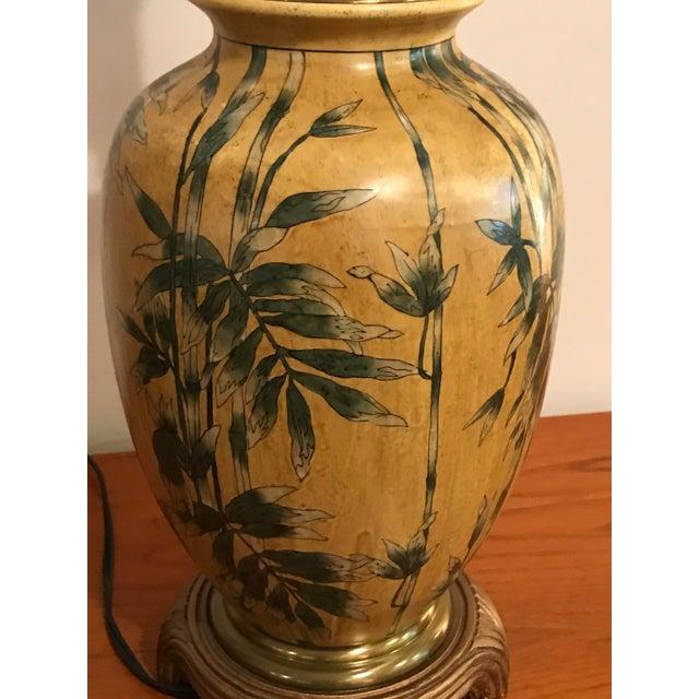 Vintage Wildwood Bamboo Ginger Jar Porcelain Table Lamp - Image 7 of 8