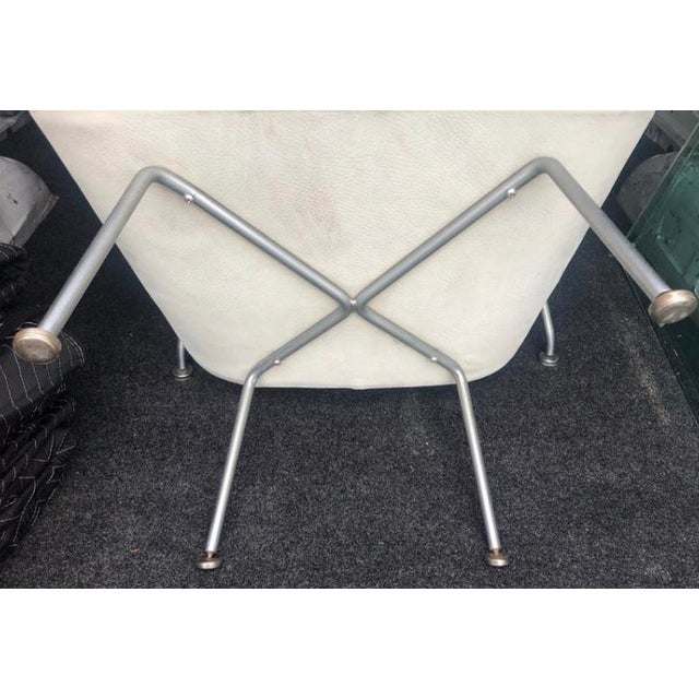1960s Eero Saarinen Leather Womb Chair and Ottoman Knoll For Sale - Image 10 of 11
