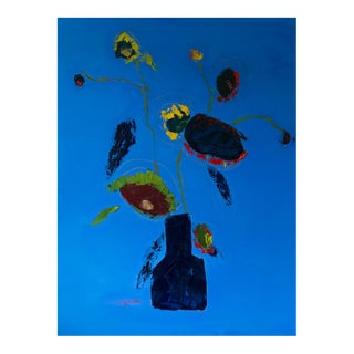 """Bill Tansey """" Miro"""" Abstract Floral Oil on Canvas For Sale"""