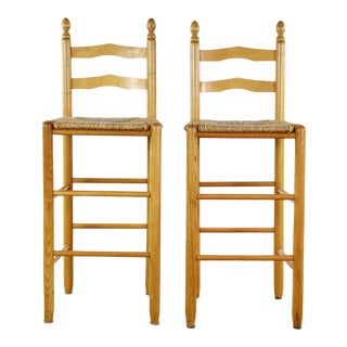 French Country Bar Stools - a Pair For Sale