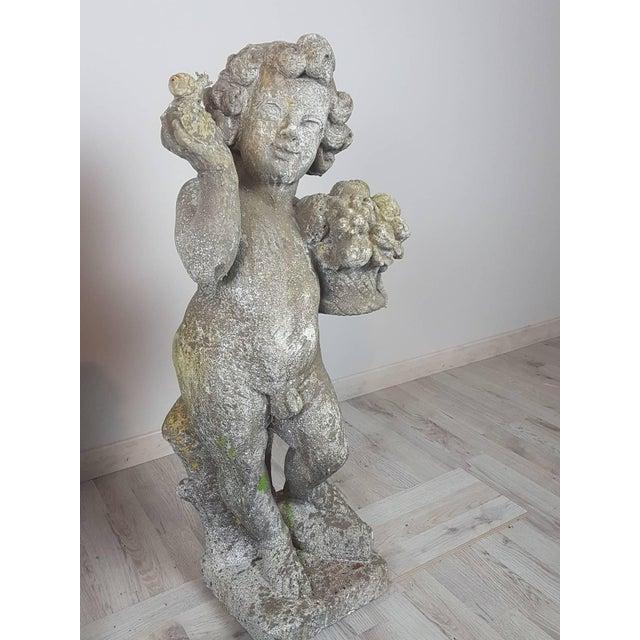 Mid-Century Modern 20th Century Italian Neoclassical Garden Statues Set, Garden Ornament For Sale - Image 3 of 10