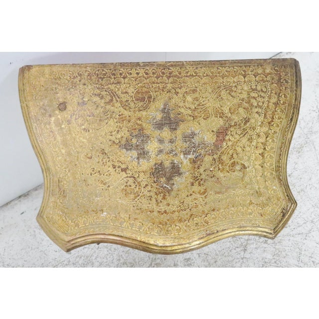 Italian Florentine Gold Gilt Nightstand For Sale - Image 5 of 7